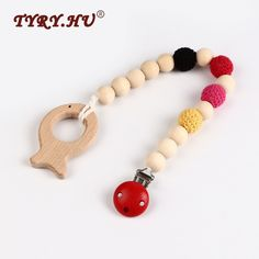 >> Click to Buy << TYRY.HU 4 in 1 Natural Wooden Beads Pacifier Clip Animal Baby Teether Dummy Chain Pacifier Non-toxic Baby Nursing Jewelry Toys  #Affiliate
