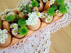 osterdeko basteln im Eierkarton