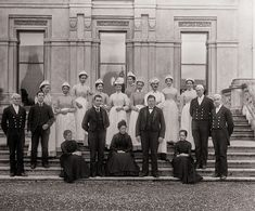 Household staffof Curraghmore House, ca. 1905. National Library of Ireland