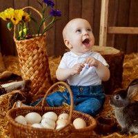 пасхальная фотосессия с кроликом