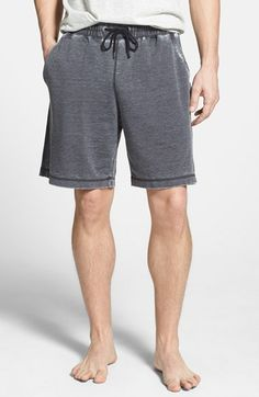 Men's Daniel Buchler Washed Cotton Blend Lounge Shorts