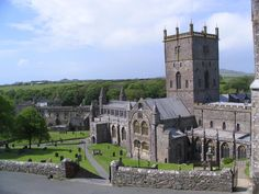 St Davids Cathedral, Pembrokeshire, West Wales, Wales * St. David is Wales's patron saint, and the cathedral devoted to him is hidden away in a secluded valley, a reminder of ancient times when sacred monuments were concealed from marauding Vikings.