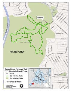 Cedar Ridge Preserve Trail Map