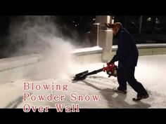 Air Jet Shovel attached to a leaf blower removes snow from driveway, sidewalks, decks and ice rinks.   www.AirJetShovel.com