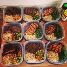 Lunch Meal Prep, Meal Prep Bowls, Easy Meal Prep, Healthy Meal Prep, Fitness Meal Prep, Clean Recipes, Healthy Dinner Recipes, Diet Recipes, Healthy Snacks