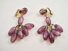 Lilac Moonstone-Like Earrings / Purple Earrings / Lavender Dangle Earrings via Etsy