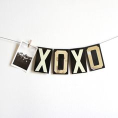 This could be cool - with old photos on a string - maybe even the letters too.