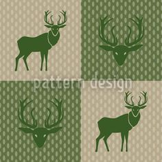 The Forest King Green by Martina Stadler available for download as a vector file on patterndesigns.com