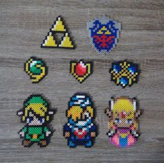 Legend of Zelda - Link, Sheik, Princess Zelda & Saria Perler Beads