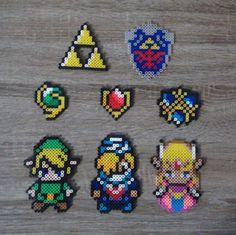 Legend of Zelda - Link, Sheik, Princess Zelda & Saria Perler Beads