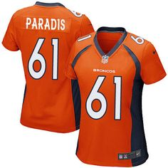 Nike Game Matt Paradis Orange Women's Jersey - Denver Broncos #61 NFL Home