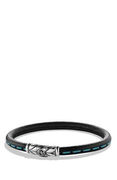 Men's David Yurman 'Chevron' Leather Bracelet