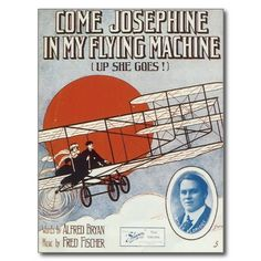 Shop My Flying Machine Vintage Song Sheet Music Art Postcard created by blueskygiftshop. Personalize it with photos & text or purchase as is! Sheet Music Art, Song Sheet, Vintage Music, Vintage Movies, Vintage Style, Custom Posters, Vintage Posters, Music Covers, Book Covers
