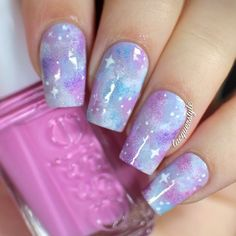 Pastel Galaxy Nails by kgrdnr