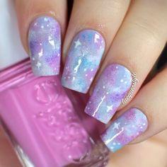 Pastel Galaxy Nails by kgrdnr