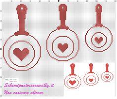 schemi punto croce cucina monocolore - Cerca con Google