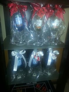 Pin on Its my party, ill WINE if I want to. My friend used wine glasses with mini wine bottles as party favors at our Holiday wine party. Jar Gifts, Wine Gifts, Banquet, Holiday Gifts, Christmas Gifts, Christmas Recipes, Holiday Ideas, Christmas Decor, Christmas Ideas