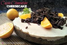 Orange, Vanilla and Chocolate curls make this healthy cheesecake a killer dessert.  Your guests will never believe that all these flavors can actually be good for you!!  An easy no bake recipe you'll make again and again with different fruits and toppings.