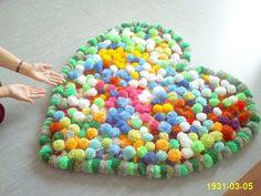 ♥DIY♥ Bobble Pompom Carpet Bommel Teppich Alfombra Tapete halı - YouTube
