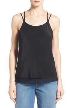 Olivia Palermo + Chelsea28 Strappy Silk Camisole available at #Nordstrom // Love this top. So feminine. Great back - sexy but demure.