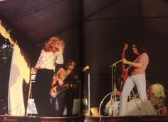 Led Zeppelin playing at the Bath Festival of Blues.