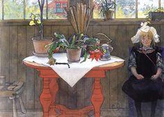 Lisbeth In The Atelier-Carl Larsson (1853 – 1919, Swedish Realist Painter)