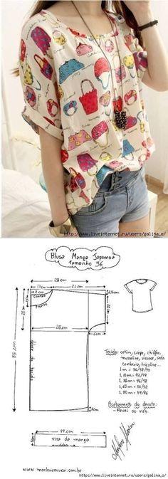 Kimono tee pattern shirt Mehr
