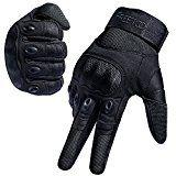 FREETOO Tactical Gloves Military Rubber Hard Knuckle Outdoor Gloves for Men Full Finger Gloves Black (L) 🕹 #Game #Video_Game #Mac
