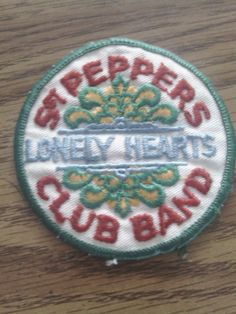 The Beatles Sgt Peppers Lonely Hearts Club Band Patch original 70's vintage