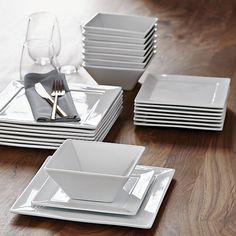find simple modern dinnerware at our high quality dishes modern dinner plates modern christmas dinner plates Modern Dinnerware, Dinnerware Sets, White Dinnerware, Cool Kitchen Gadgets, Cool Kitchens, Home Decor Accessories, Kitchen Accessories, Kitchen Interior, Kitchen Decor