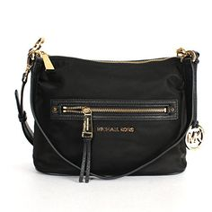 Michael Kors Rhea Zip Medium Convertible Shoulder Bag Black
