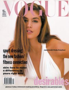Cindy Crawford by Wayne Maser Vogue Australia July 1990