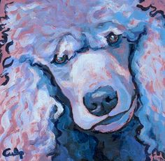 pink poodle art | Poodles on Etsy (and elsewhere) | Phyrra | Beauty for the Bold