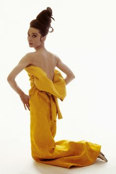 "The actress Audrey Hepburn photographed by Bert Stern at Vogue magazine's studio in New York City, New York (USA), specially for a fashion editorial called ""The Givenchy idea"" (edition of April 15, 1963, published photo), on March 15, 1963. Audrey..."
