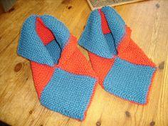 Marits hobbyblogg: Tovede tøfler / Felted slippers Felted Slippers, Crochet Slippers, Mittens, Diy, Accessories, Free Knitting, Slippers, Felt Slippers, Fingerless Mitts
