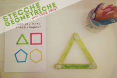MiniFactory: Stecche Geometriche Popsicle stick diy + free printables shapes Montessori activities