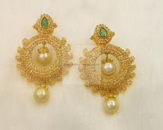 indian gold earrings - Google Search