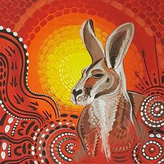 Aboriginal art. Aboriginal Art Symbols, Aboriginal Art Animals, Aboriginal Painting, Indigenous Australian Art, Indigenous Art, Acrylic Artwork, Dot Art Painting, Hawaiian Art, Kangaroos