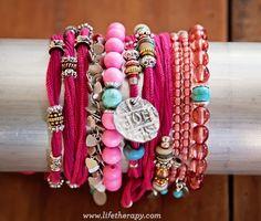 Pink bracelets #positivityincolor