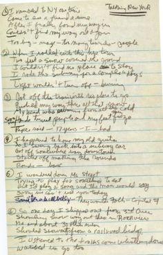 Bob Dylan- 40 Handwritings and Transcripts Bob Dylan Quotes, Bob Dylan Lyrics, Bob Dylan Live, Daily Progress, Music Station, Music Magazines, Roger Nelson, Music Lyrics, Handwriting