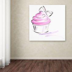 Cupcake 2 by Jennifer Lilya Painting Print on Wrapped Canvas