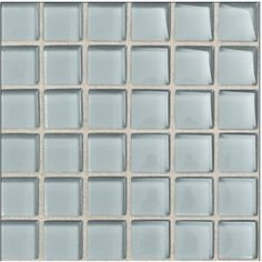 American Olean Legacy Glass Moonlight Glass Mosaic Square Indoor/Outdoor Wall Tile (Common: 12-in x 12-in; Actual: 11.87-in x 11.87-in)
