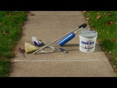 """Concrete repair involving fire and saying """"crack stix"""" over and over. I'm totally sold. Asphalt Concrete, Driveway Repair, Basement Flooring, Parking Lot, House Projects, Outdoor Power Equipment, How To Apply, Fire, Gray"""