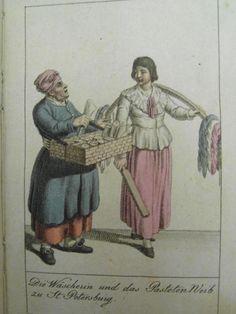 Göttingischer Taschen-Kalender für das Jahr 1804. Die Wäscherin und das Pastetenweib St.Petersburg