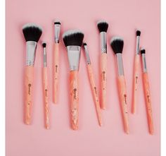 Rose Quartz - 9 Piece Brush Set