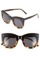 Illesteva 'Boca' 47mm Round Sunglasses