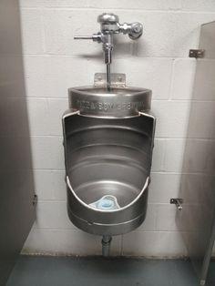 Biervat als #urinoir