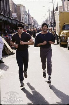 Still of Sylvester Stallone and Tommy Morrison in Rocky V i will work out with you.