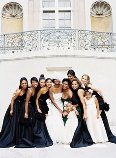 gorgeous dramatic bridesmaid dresses | Jonathan Canlas #wedding