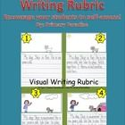 Use this resource to quickly and easily create your own visual writing rubric to help your primary students self assess their work. No drawing required! :) $
